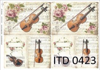 бумага для декупажа классическая D0423