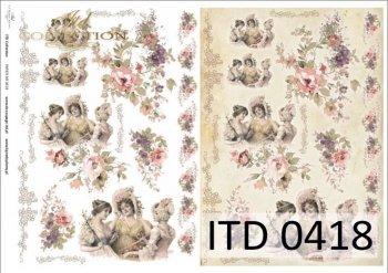 бумага для декупажа классическая D0418