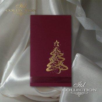 Рождественская и Новогодняя открытка K608