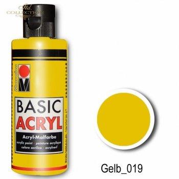 Farba akrylowa Basic Acryl 80 ml Gelb 019