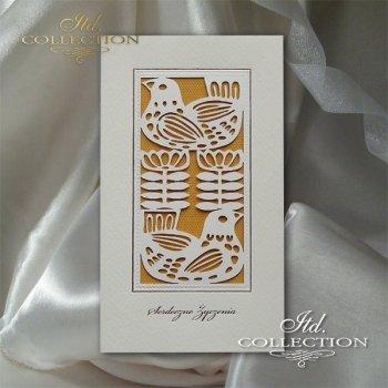 Пасхальная открытка с конвертом KW250