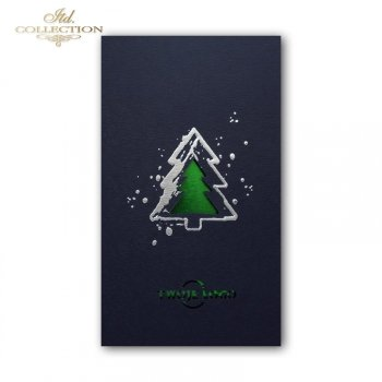 Рождественская и Новогодняя открытка K603