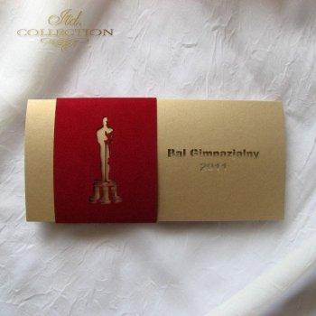 Zaproszenia  na studniówkę ZS_Oscar z kopertą