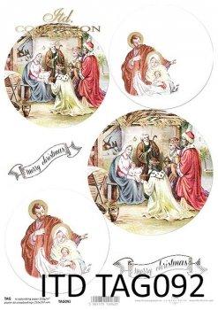 бумага для новогодних и рождественских шаров TAG0092