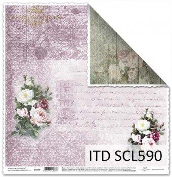 Бумага для скрапбукинга SCL590