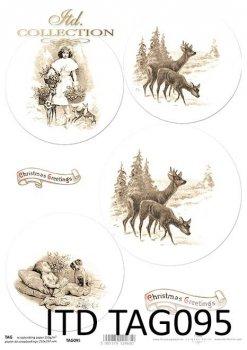 бумага для новогодних и рождественских шаров TAG0095