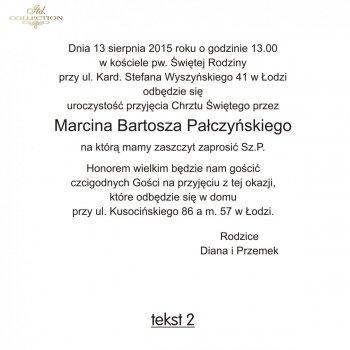 .text pro pozvánky na Křest - TC2