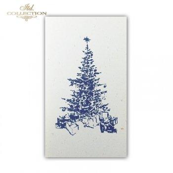 Рождественская и Новогодняя открытка K614