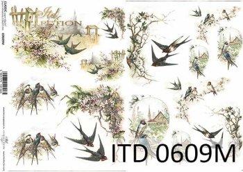 бумага для декупажа классическая D0609M