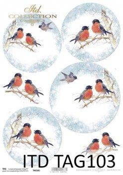 бумага для новогодних и рождественских шаров TAG0103