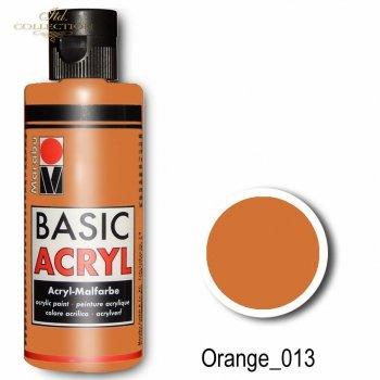 Farba akrylowa Basic Acryl 80 ml Orange 013