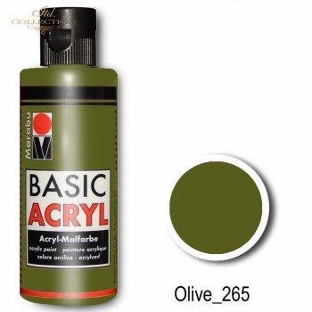 Farba akrylowa Basic Acryl 80 ml Olive 265