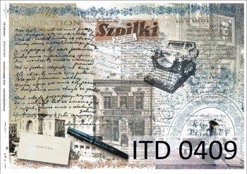 бумага для декупажа классическая D0409