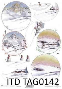 бумага для новогодних и рождественских шаров TAG0142