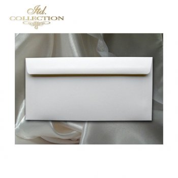 Конверт KP06.02 110x220 натуральный белый цвет