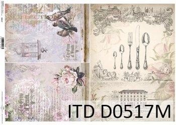 бумага для декупажа классическая D0517M