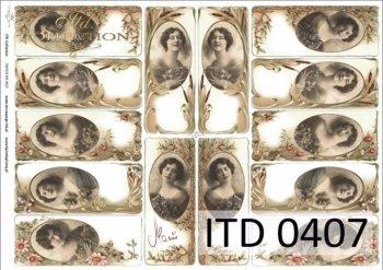 бумага для декупажа классическая D0407M