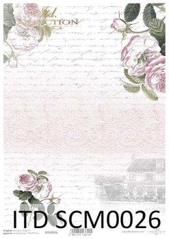 Papier für Scrapbooking SCM0026