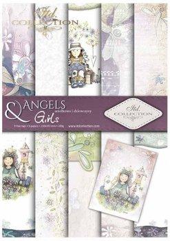 Set von Papieren für Scrapbooking SCRAP-032 ''Engel & Mädchen''