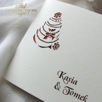 Einladungskarten / Hochzeitskarte 1732_39_rot