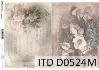 Papier für Serviettentechnik und Decoupage D0524M