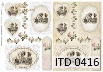 Decoupage paper ITD D0416M
