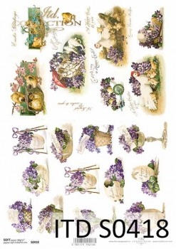 Decoupage paper Soft ITD S0418