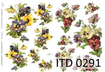 Decoupage paper ITD D0291
