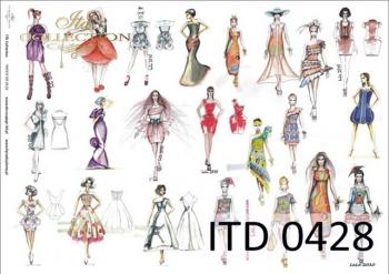 Decoupage paper ITD D0428M