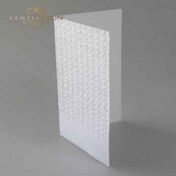 Card Base BDK-023 * Natural white, flowers