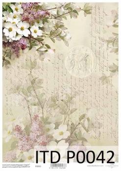 Translucent scrapbooking paper P0042