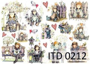 Decoupage paper ITD D0212