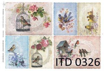 Decoupage paper ITD D0326