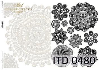 Decoupage paper ITD D0480