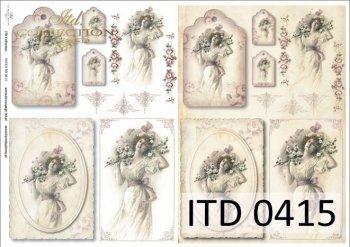 Decoupage paper ITD D0415