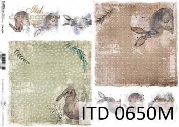 Decoupage paper ITD D0650M
