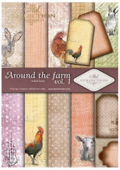 Scrapbooking papers SCRAP-035 ''around the farm''