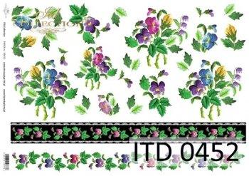 Decoupage paper ITD D0452M
