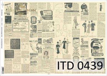 Decoupage paper ITD D0439M