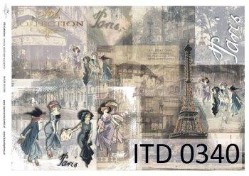 Decoupage paper ITD D0340M