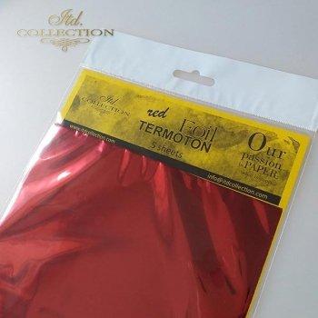 metallic foil Termoton * red