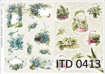 Decoupage paper ITD D0413M
