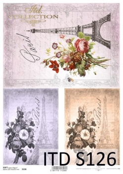 Decoupage paper Soft ITD S0126