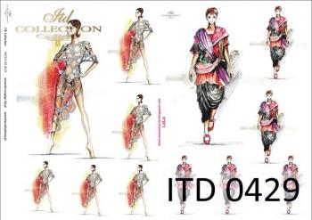 Decoupage paper ITD D0429