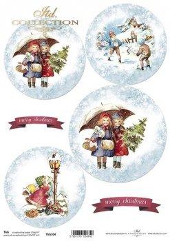 Cardboard for Christmas balls TAG0104