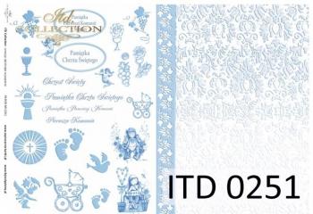 Decoupage paper ITD D0251M