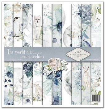 Scrapbooking papers SLS-020 ''The world of ice porcelain''