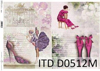Decoupage paper ITD D0512M