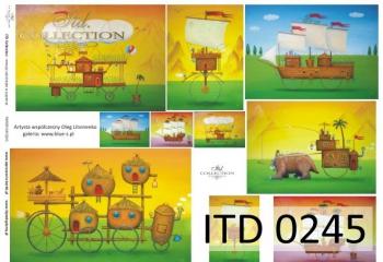Decoupage paper ITD D0245M