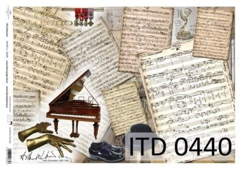 Decoupage paper ITD D0440